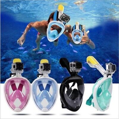 Full Face Anti-Fog Swimming Diving Breath Surface Snorkel Mask For GoPro S/M/XL