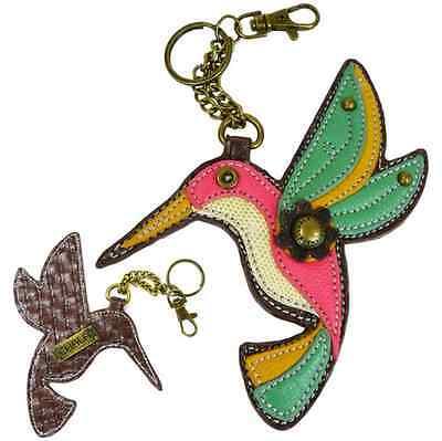 Chala Hummingbird Bird Key Chain Purse Leather Bag Fob Charm New