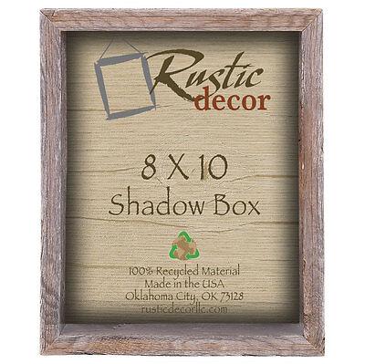 8x10 Reclaimed Rustic Barn Wood Collectible Shadow Box