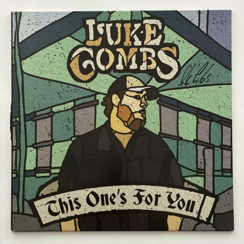 LUKE COMBS SIGNED AUTOGRAPH ALBUM VINYL RECORD - THIS ONE'S FOR YOU COUNTRY JSA