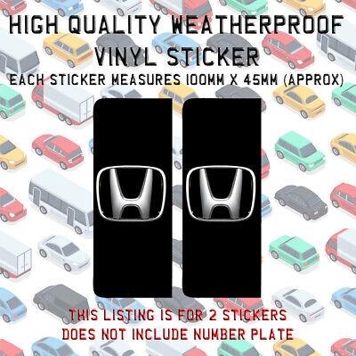 HONDA LOGO License plates frames for ALL model CIVIC CR-V HR-V FR-V CRX S2000
