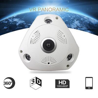 1080P 360degree Panoramic Hidden IR Camera Light Bulb Wifi FishEye CCTV Security