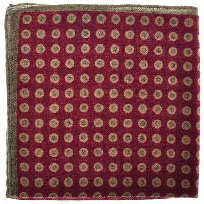 Battisti Napoli Pocket Square Wool Purple Green Geometric 41PS0152 $140