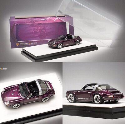Timothy&Pierre 1:64 Porsche Singer 911(964) Alba Cielo Targa Convertible Model