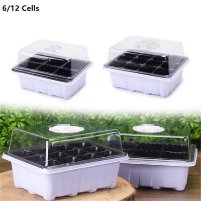 612 Holes Planting Box Nursery Pot Plant Grow Starter Garden Germination Kit