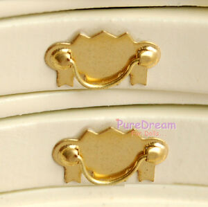 Dollhouse-Furniture-Hardware-Brass-Drawer-Handle-Pull-2pcs-OA00612