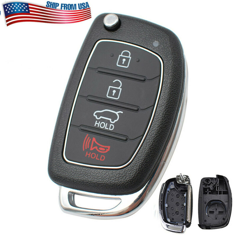 For Hyundai Santa Fe Sonata Tucson Elantra Remote Key Fob Shell Case 4 Buttons Ebay