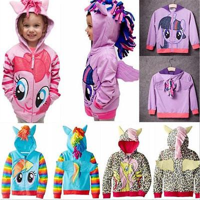 Rainbow Dash Jacket (My Little Pony Hoodie Wings Coat Jacket Sweater Twilight Rainbow Dash Kids)