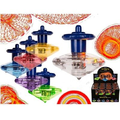 1 x Spinning Top LED Light Game Toy Party Retro Classic Educ