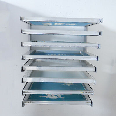 8 Layers Screen Printing Frame Holder Wall Mounted Tool Silkscreens Storage Rack