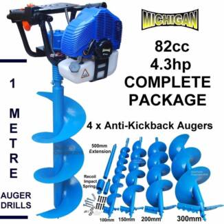 PETROL POST HOLE DIGGER AUGER FENCE STUMP POSTHOLE GROUND DRILL