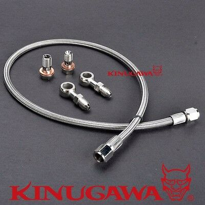 Turbo Oil Feed Line SUBARU WRX w/ Stock Mitsubishi TD04 TD05 Turbo /100cm (Long Oil Line)