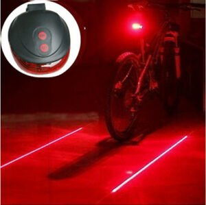 Bike Safety light with laser pointer