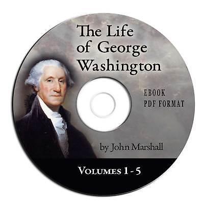 Life of George Washington-John Marshall-CD eBook PDF-US History-Best