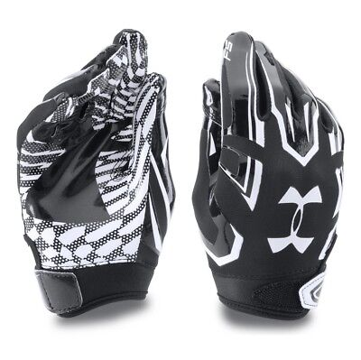 Under Armour F5 Receiver Football Gloves Black 1271185 001 Youth Large Fast Ship