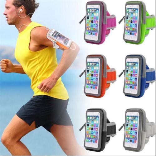 "Universal Sport Running Riding Arm Band Case Holder Zipper Bag for 4-6"" Phone"