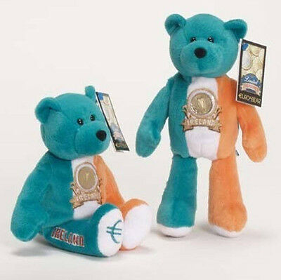 "Ireland Euro Coin Bear Retired 9"" Plush Collectible Teddy Bear Limited Treasures"