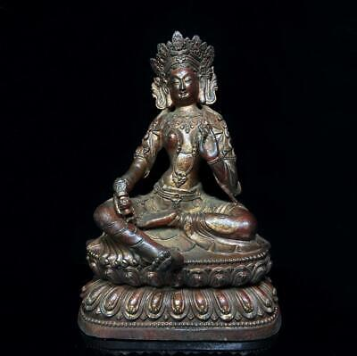 Details about  /Old Chinese brass MING XUANDE hand-carved Buddha lotus statue
