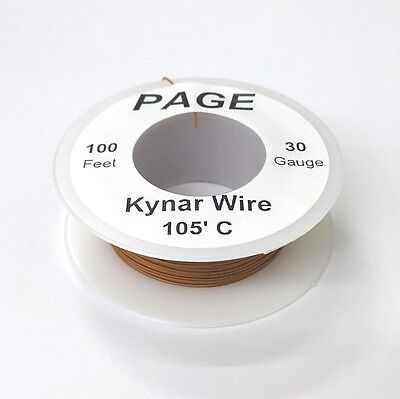 100 Page 30awg Brown Kynar Insulated Wire Wrap Wire 100 Foot Roll Made In Usa