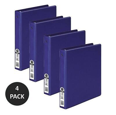 Wilson Jones 3 Ring Binder 1 Inch Round Binder 4 Pack Dark Blue