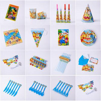 Winnie Pooh Kinder geburtstag Party Gedeckter Tisch Masken Teller Tischdecke Hüt (Winnie The Pooh Geburtstag Party)