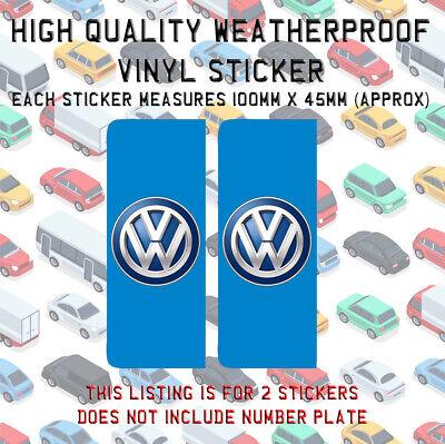 2X CHROME NUMBER PLATE HOLDER SURROUNDS FOR VW VOLKSWAGEN TRANSPORTER TOUREG LT