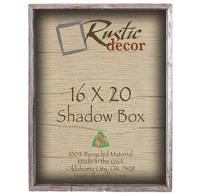 16x20 Reclaimed Rustic Barn Wood Collectible Shadow Box