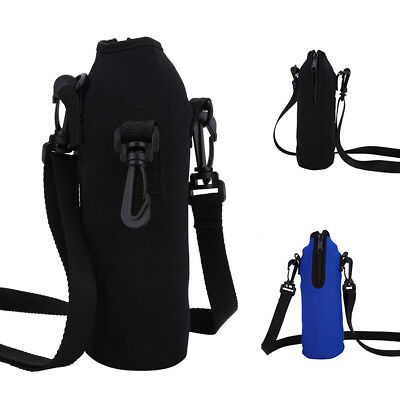 - 1000ML Water Bottle Carrier Insulated Cover Bag Holder Strap Pouch Outdoor JA