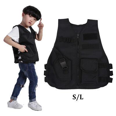 Kinder Kinder Taktik Weste Military Assault Police / FBI Spiel Kampf Kostüm - Spieler Kostüm Weste