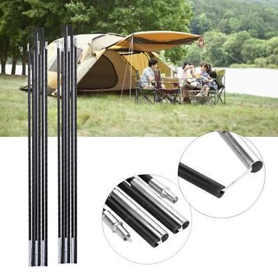 2Pcs 7mm Fiberglass Replacement Camping Backpacking 6 Sections Tent Poles Rod SD