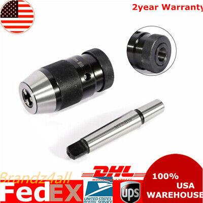 Keyless 12 Drill Chuck Self Tighten With 2mt Morse Taper Arbor Mt2-b16 1-13mm