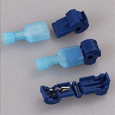 100 Pcs Electrical Cable Connectors Quick Splice Lock Wire Terminals Crimp Usa