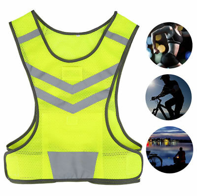 Hi-vis Safety Vest Reflective Jacket Security Waistcoat Construction Traffic