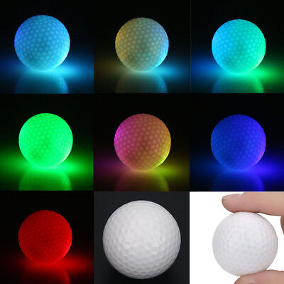 Multi-color Golf Sports LED Light Up Golf Ball Official Size Double Layer](Golf Ball Led)