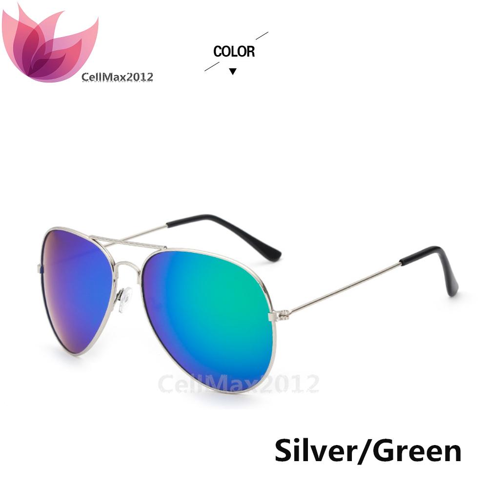 Silver / Green Lens