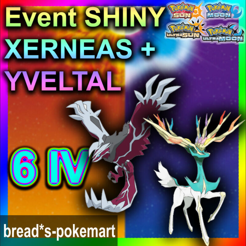 ✨Shiny Xerneas Yveltal 6IV✨ Pokemon XY ORAS Ultra Sun & Moon 3DS 🚀Fast Trade🚀