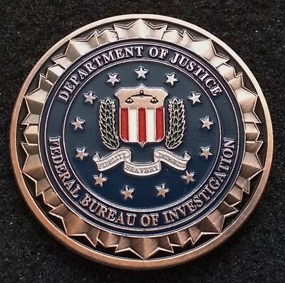 Fbi Federal Bureau Washington Dc Conus Intel Justice Department Challenge Coin
