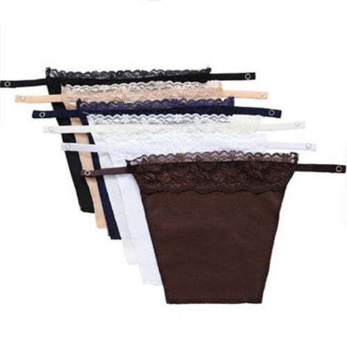 6 Pack Instant Camisole - Chest Cover Up - Modesty Panel - Navy Lace Bra Inserts