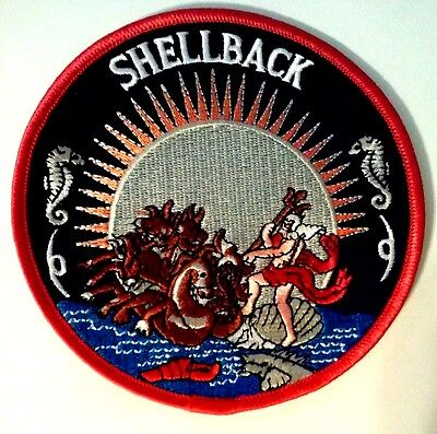 U.S. Navy Shellback Squadron Equator Patch 4 1/2""