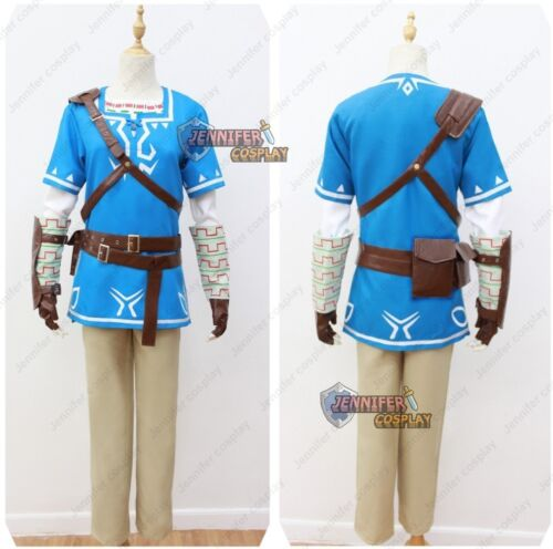Details About The Legend Of Zelda Breath Of The Wild Link Cosplay Costume