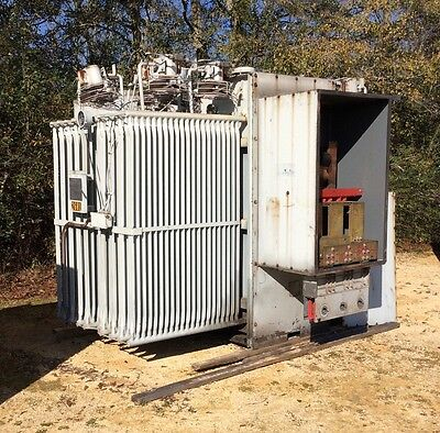 Ge Substation Transformer Gek45249 2500 Kva Primary 19800 Secondary 480y277