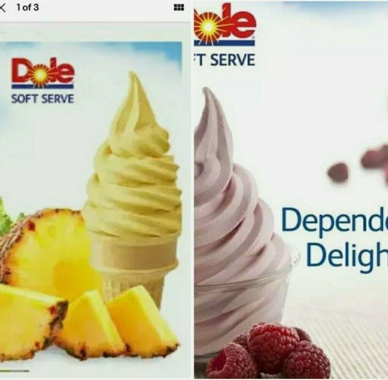 Pineapple & Raspberry Dole Whip soft serve mix Polynesian Isle Aloha 10oz x 2