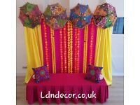 Mehndi decorations from £175