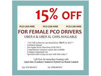 PCO Car Hire/Rent Toyota Prius - From £129* 1st Week Rent Free ** UBER READY **