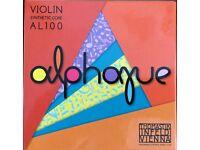 Thomastik Alphayue Violin String Set AL100 full size - new - 2 sets available