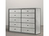 Art-Deco Strand Mirrored 10 Drawer Chest | RRP £2,300