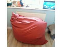 Large orange beanbag