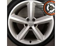 "18"" Genuine Audi A4 A5 S Line alloys good cond good tyres."