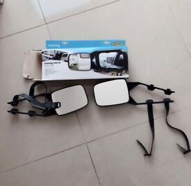 New Towing Mirrors Twin Pack .For Fixing to the car wing mirrors for better vision