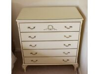 Olympus Louis French Style Chest of Drawers - w 80 - d 50 - h 85 cm